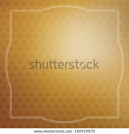 Abstract vector background with triangles and vintage frame. for advertising, classified ads, layouts, web, internet, website, cover, booklet, magazine, banner