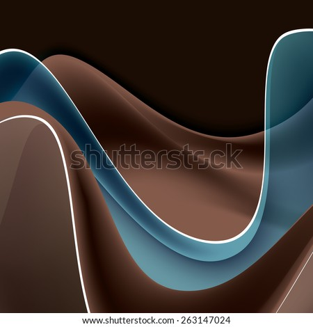 Abstract Vector Background with Wavy Lines. - stock vector