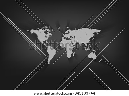 abstract vector background with world map and copy space. Eps10 - stock vector