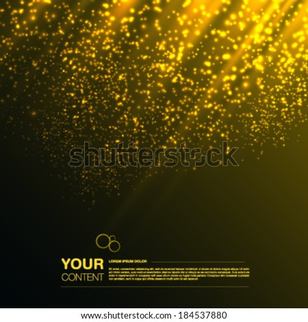 Abstract vector background with your text eps10 - stock vector