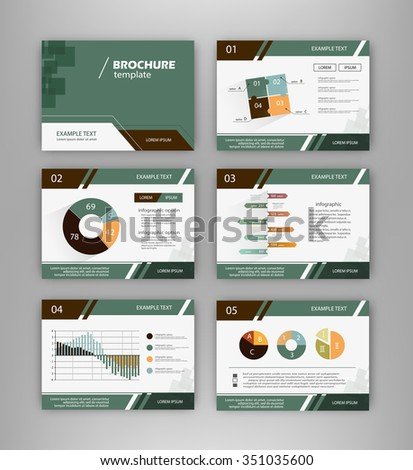 Abstract Vector Backgrounds Infographic Brochure Elements Stock