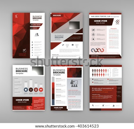 Abstract vector backgrounds and Infographic brochure elements for business and finance visualization. Set of infographic templates for flyer, presentation, booklet, print, website