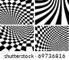 Abstract vector backgrounds - black and white - stock photo