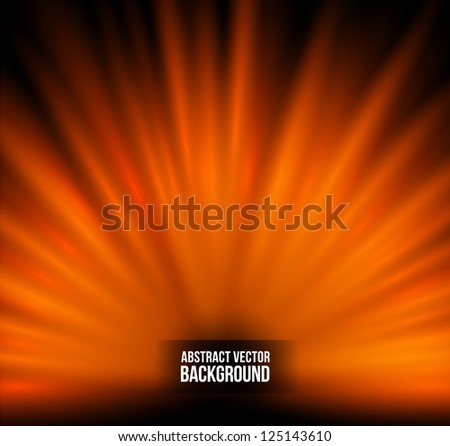 Abstract vector backgrounds. Orange - stock vector