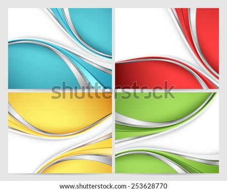 abstract vector backgrounds set with colorful  lines. Eps10 - stock vector