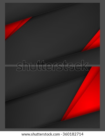 abstract vector backgrounds set with copy space. Eps10 - stock vector