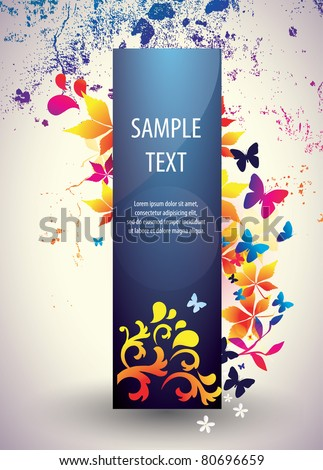 Abstract vector banner - stock vector