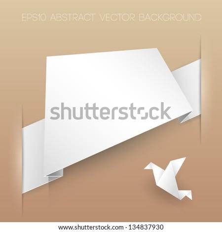 Abstract vector banner origami - stock vector