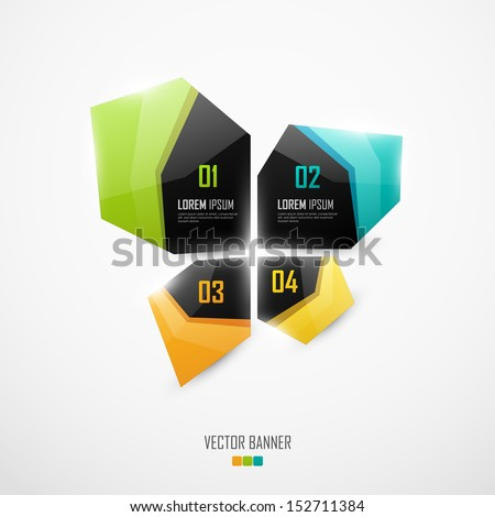 Abstract vector banners - stock vector