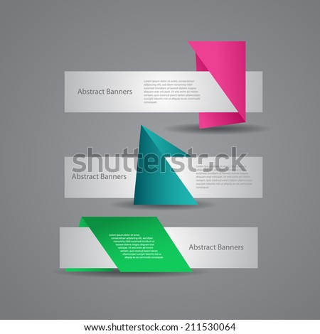 Abstract vector banners. - stock vector