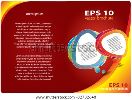 Abstract vector brochure design with place for your promotional text, red and yellow colors - stock vector