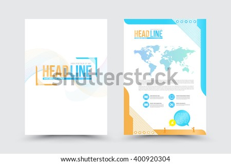 Abstract Vector Brochure Template. Flyer Layout. Flat Style. Infographic Elements. Vector illustration. Use for business report, presentation. - stock vector