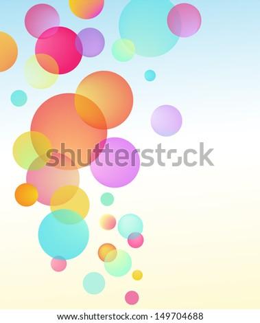 abstract vector bubble baloon circles background - stock vector