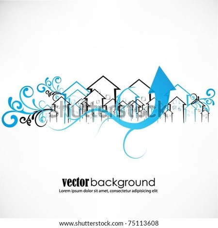 abstract vector buildings