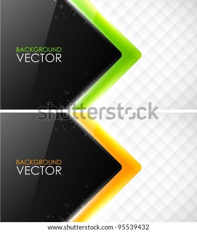 Abstract vector business cards - stock vector