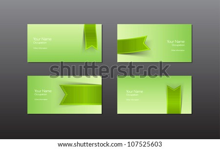 Abstract vector business cards banners green stock vector 107525603 abstract vector business cards banners with green ribbon colourmoves