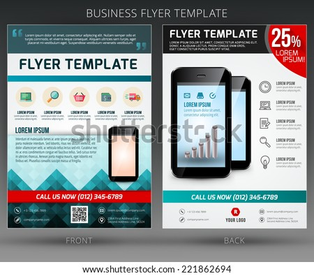 Abstract vector business flyer brochure template. EPS10 - stock vector