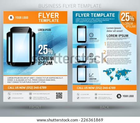 Abstract Vector Business Flyer Brochure Template Stock Vector ...