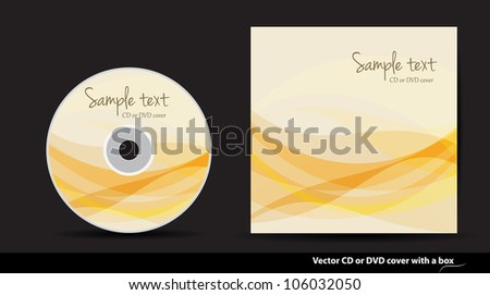 Abstract vector CD or DVD cover design