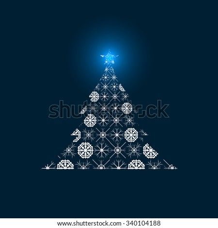 Abstract vector Christmas Tree.