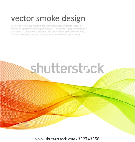 Abstract vector color background with transparent waves - stock vector