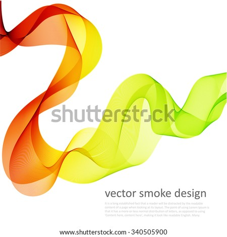 Abstract vector colorful background with transparent smoke - stock vector
