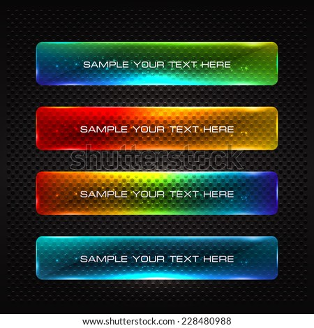 Abstract vector colorful glowing options. Useful for presentations or web design.  - stock vector