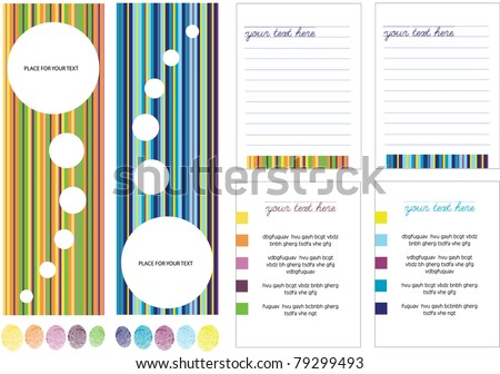 abstract vector computer design of creative page layout with place for your text
