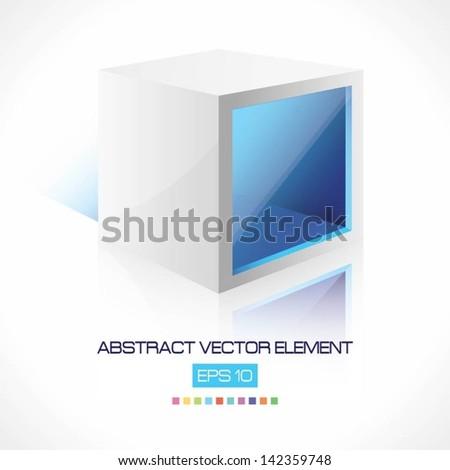 Abstract Vector Cube - stock vector