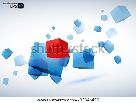 Abstract vector cubes background