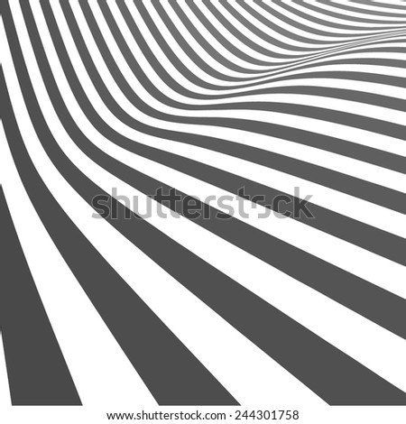 Abstract vector curved lines - stock vector