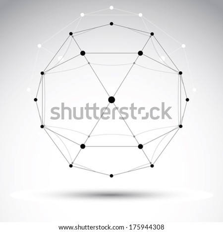 Abstract vector 3D mesh object, clear eps 8. - stock vector