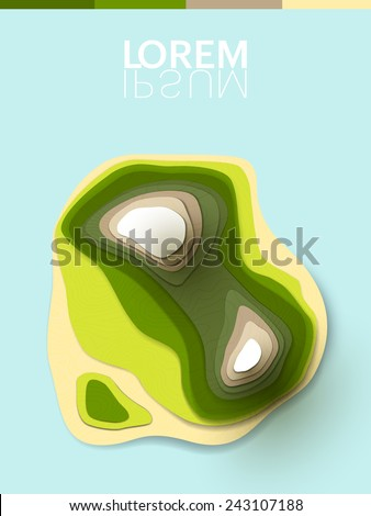abstract vector 3d shapes - stock vector