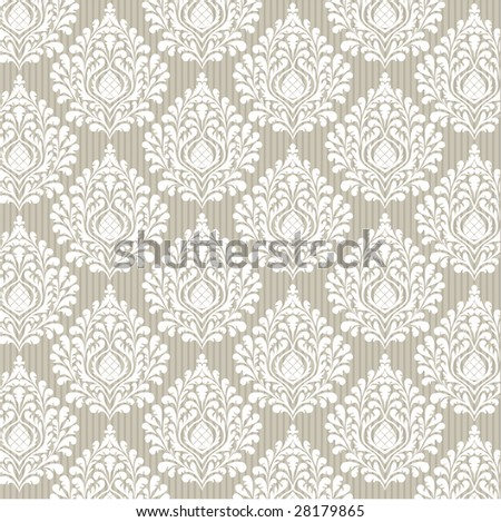 Abstract vector damask background for design use