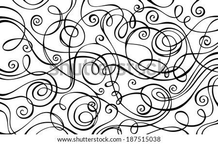 Abstract vector decorative doodles background. Hand-drawn vector illustration. - stock vector