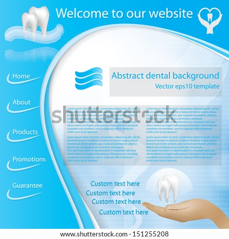 Abstract vector dental illustration of teeth - stock vector