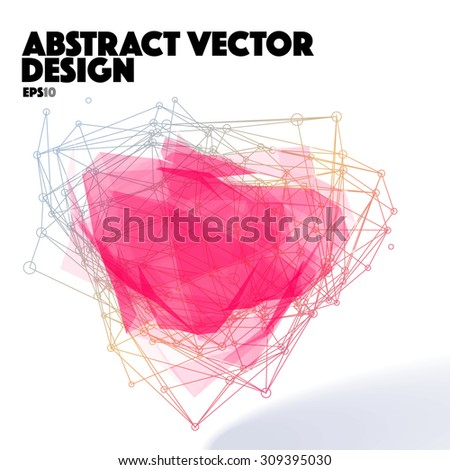 Abstract Vector Design Element. Connection Lines - stock vector