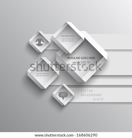 abstract vector design element paper squares - stock vector