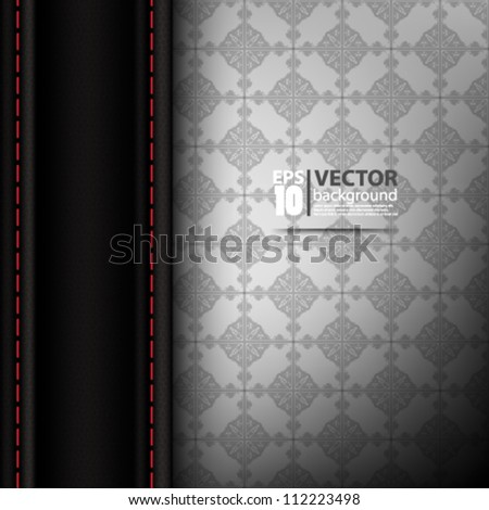 abstract vector design on seamless pattern background eps10 - stock vector
