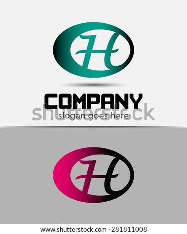 Abstract Vector Design Template. Creative Concept Icon H  - stock vector