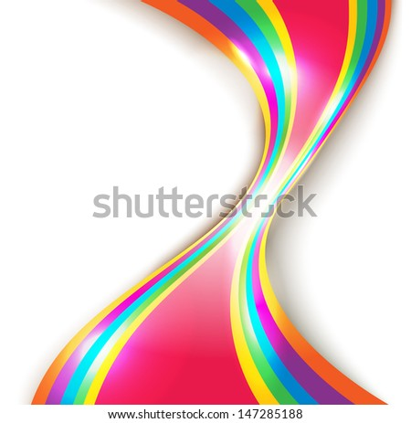 Abstract vector design with multicolored lines - stock vector