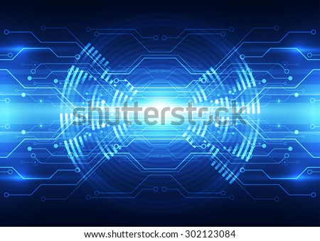 abstract vector digital future technology background illustration - stock vector