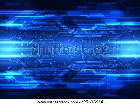 abstract vector digital technology background design - stock vector