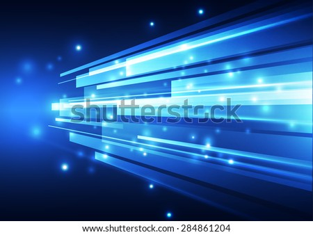 abstract vector digital technology background, illustration - stock vector