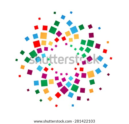Abstract Vector Dots Business Logo . Circular Halftone Dots Company Icon . Abstract Spotted Background for your Design .