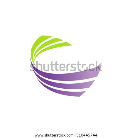 Abstract Vector Dynamic Shaped logo - stock vector