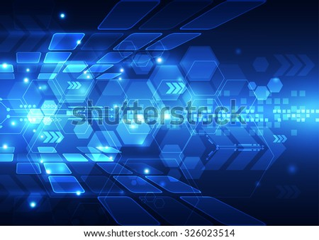 abstract vector engineering technology background illustration - stock vector