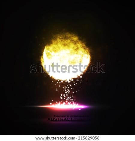 Abstract vector eps10. Creative dynamic light element, futuristic art illustration - stock vector