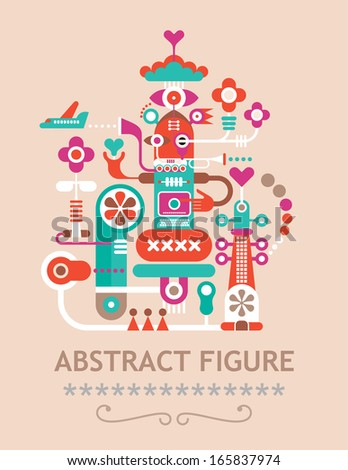 """Abstract vector figure composition with text """"Abstract Figure"""". - stock vector"""