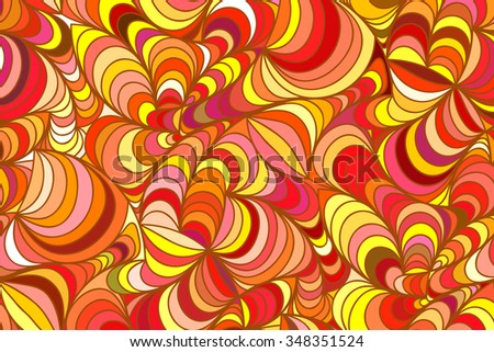 Abstract vector floral colorful background of hand drawn lines